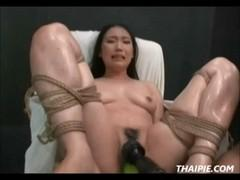 Bound Asian assholes fucked electric saw.