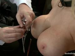Fabulous Busty submissive wife blowjob lust satisfied husband.
