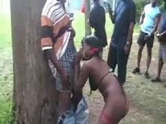 Black slut gives everyone in the park.