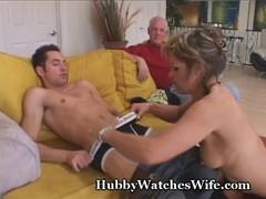 MILF in black stockings seduces a guy with her husband nihilists.